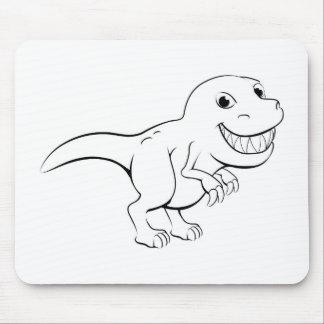 Happy cartoon dinosaur mouse pad