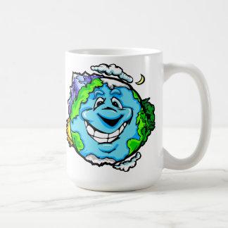 Happy Cartoon Earth Coffee Mug