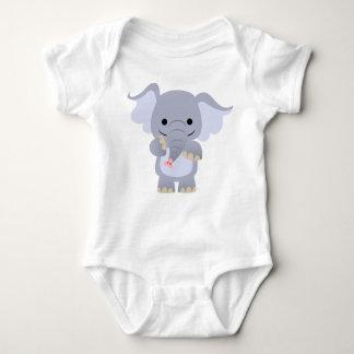 Happy Cartoon Elephant Baby Apparel Baby Bodysuit