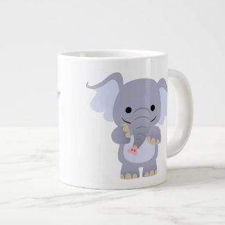 Happy Cartoon Elephant Jumbo Mug