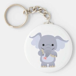 Happy Cartoon Elephant Keychain