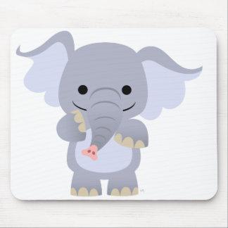 Happy Cartoon Elephant Mousepad