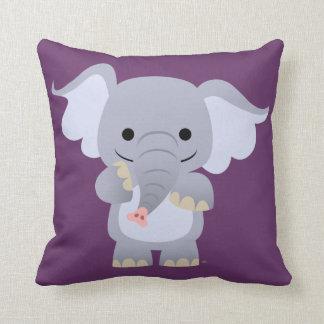 Happy Cartoon Elephant Pillow