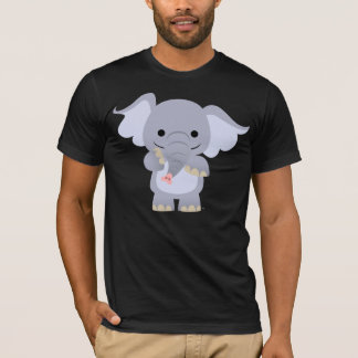 Happy Cartoon Elephant T-shirt