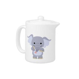 Happy Cartoon Elephant Teapot