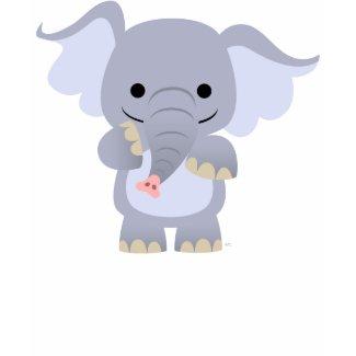 Happy Cartoon Elephant Women T-shirt shirt