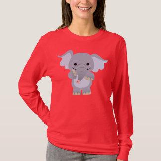 Happy Cartoon Elephant Women T-shirt