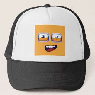 Happy Cartoon Eyes and Mouth Trucker Hat