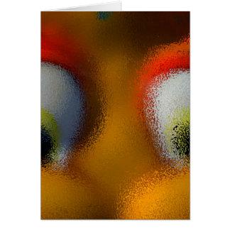 Happy Cartoon Eyes, Yellow, playground starfish Card