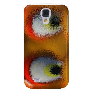 Happy Cartoon Eyes, Yellow, playground starfish Samsung Galaxy S4 Case