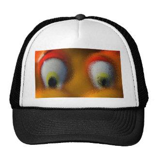 Happy Cartoon Eyes, Yellow, playground starfish Trucker Hat