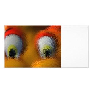 Happy Cartoon Eyes, Yellow, playground starfish Photo Cards