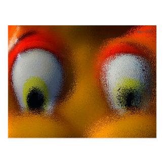 Happy Cartoon Eyes, Yellow, playground starfish Postcard