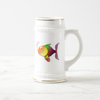Happy Cartoon Fish Beer Stein