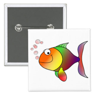 Happy Cartoon Fish Pins