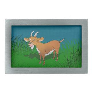 Happy cartoon goat belt buckle