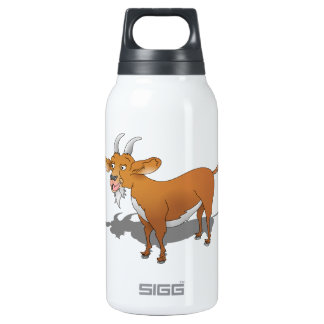 Happy cartoon goat insulated water bottle