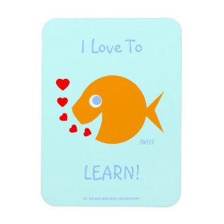 Happy Cartoon Goldfish Elementary Classroom Award Magnet