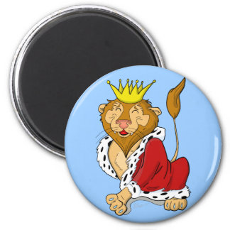 Happy Cartoon King Lion Magnet
