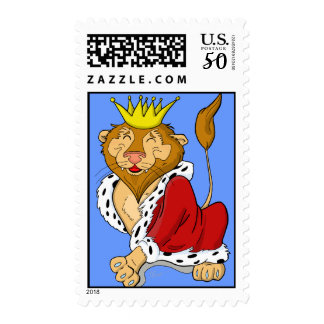 Happy Cartoon King Lion Postage
