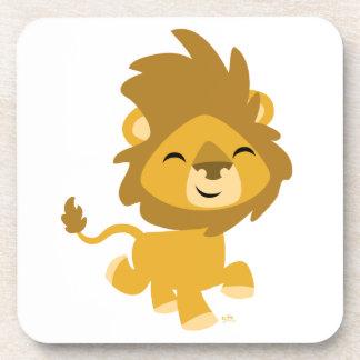 Happy Cartoon Lion Coasters