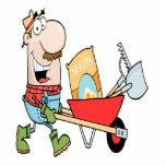 """happy cartoon man gardening gardener cutout<br><div class=""""desc"""">A cute and fun cartoon character design.</div>"""