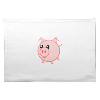Happy Cartoon Pig Cloth Placemat
