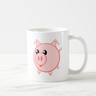 Happy Cartoon Pig Coffee Mug