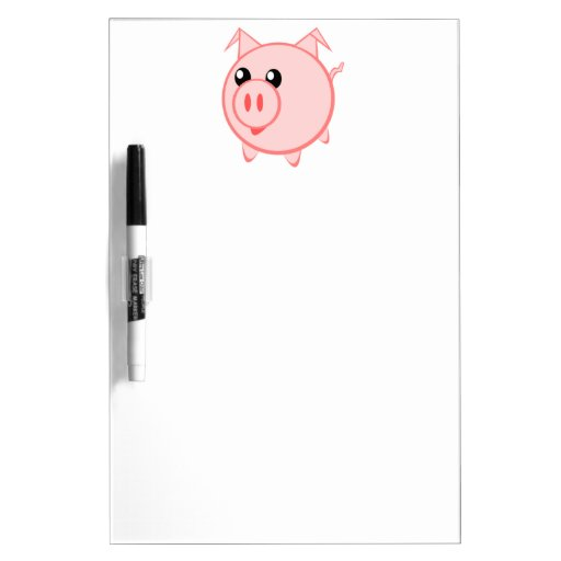 Happy Cartoon Pig Dry-Erase Boards