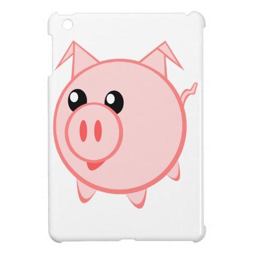 Happy Cartoon Pig iPad Mini Cover