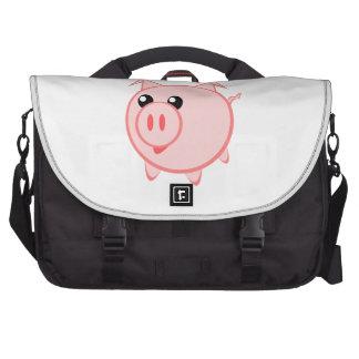 Happy Cartoon Pig Laptop Bag