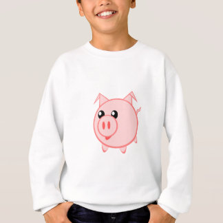 Happy Cartoon Pig Sweatshirt