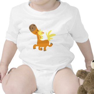 Happy Cartoon Pony Baby apparel shirt