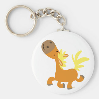 Happy Cartoon Pony keychain