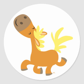 Happy Cartoon Pony Sticker