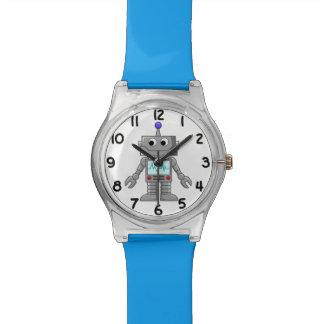 Happy Cartoon Robot Kids Custom Color Wrist Watch