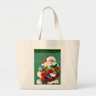 happy cartoon santa Bag