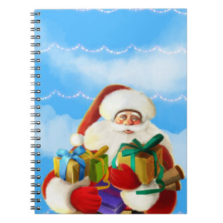 happy cartoon santa Notebook
