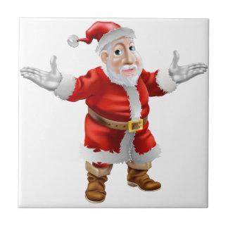 Happy cartoon Santa Ceramic Tile