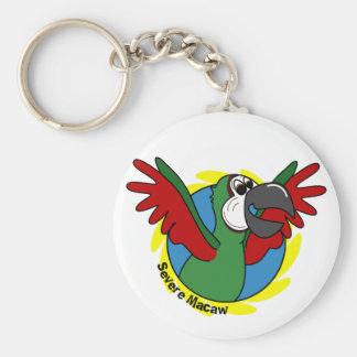 Happy Cartoon Severe Macaw Keychain