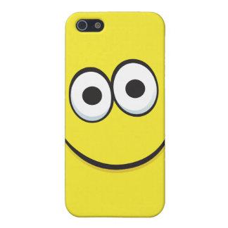 Happy cartoon smiley face iPhone case