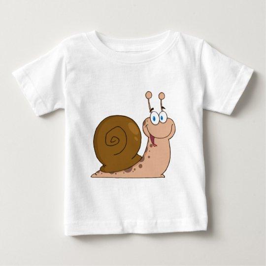 Happy Cartoon Snail Baby T-Shirt