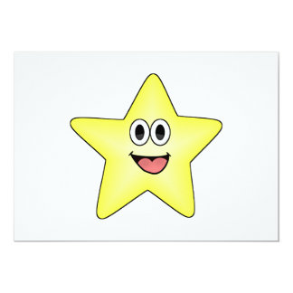 Happy Cartoon Star Card
