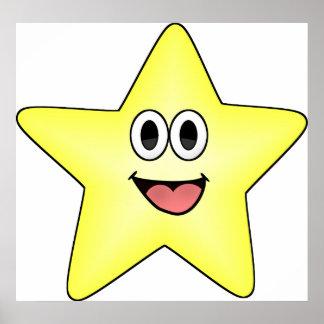 Happy Cartoon Star Posters