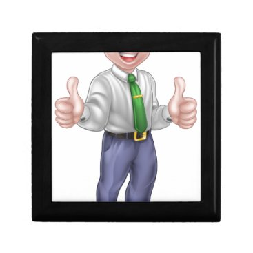 Professional Business Happy Cartoon Thumbs Up Man Gift Box