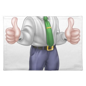 Professional Business Happy Cartoon Thumbs Up Man Placemat