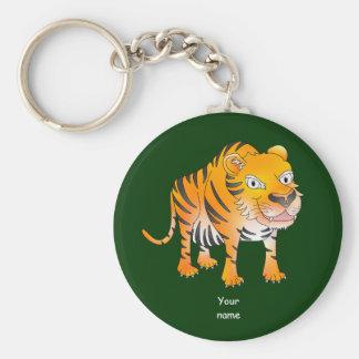 Happy cartoon tiger keychain