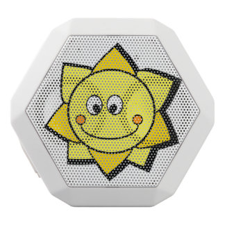 Happy Cartoon Yellow and Orange Sun Speaker White Boombot Rex Bluetooth Speaker