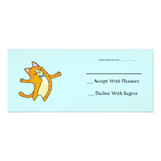 Happy Cat 4x9.25 Paper Invitation Card