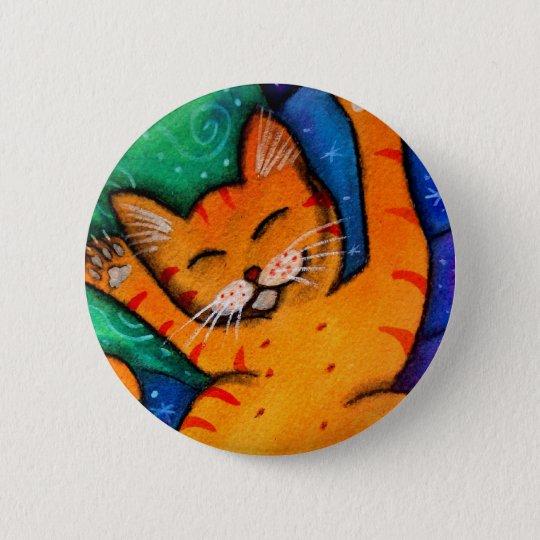 Happy Cat Button